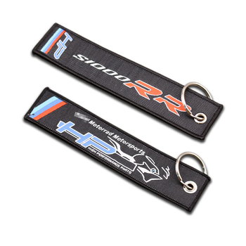 Motorcycle Embroidery Key Holder Chain Collection Keychain For BMW S1000RR S1000 RR HP4 Embroidered Badge Keyring image