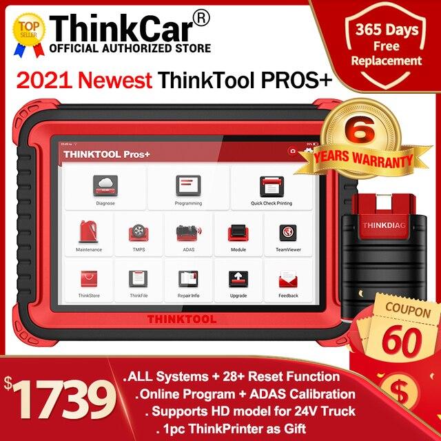 """Thinkcar thinktool prós + carro obd2 ferramenta de diagnóstico 10 """"sistema completo adas código scanner programação em linha pk maxisys maxicom 908 pro"""