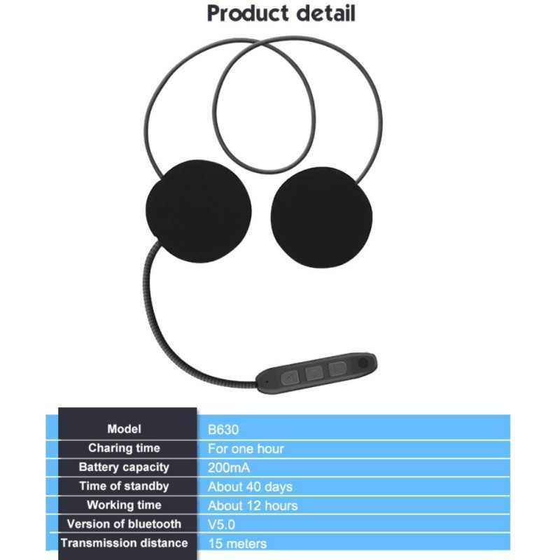 Casque moto Bluetooth casque moto mains libres casque interphone casque écouteur pour musique GPS voiture style