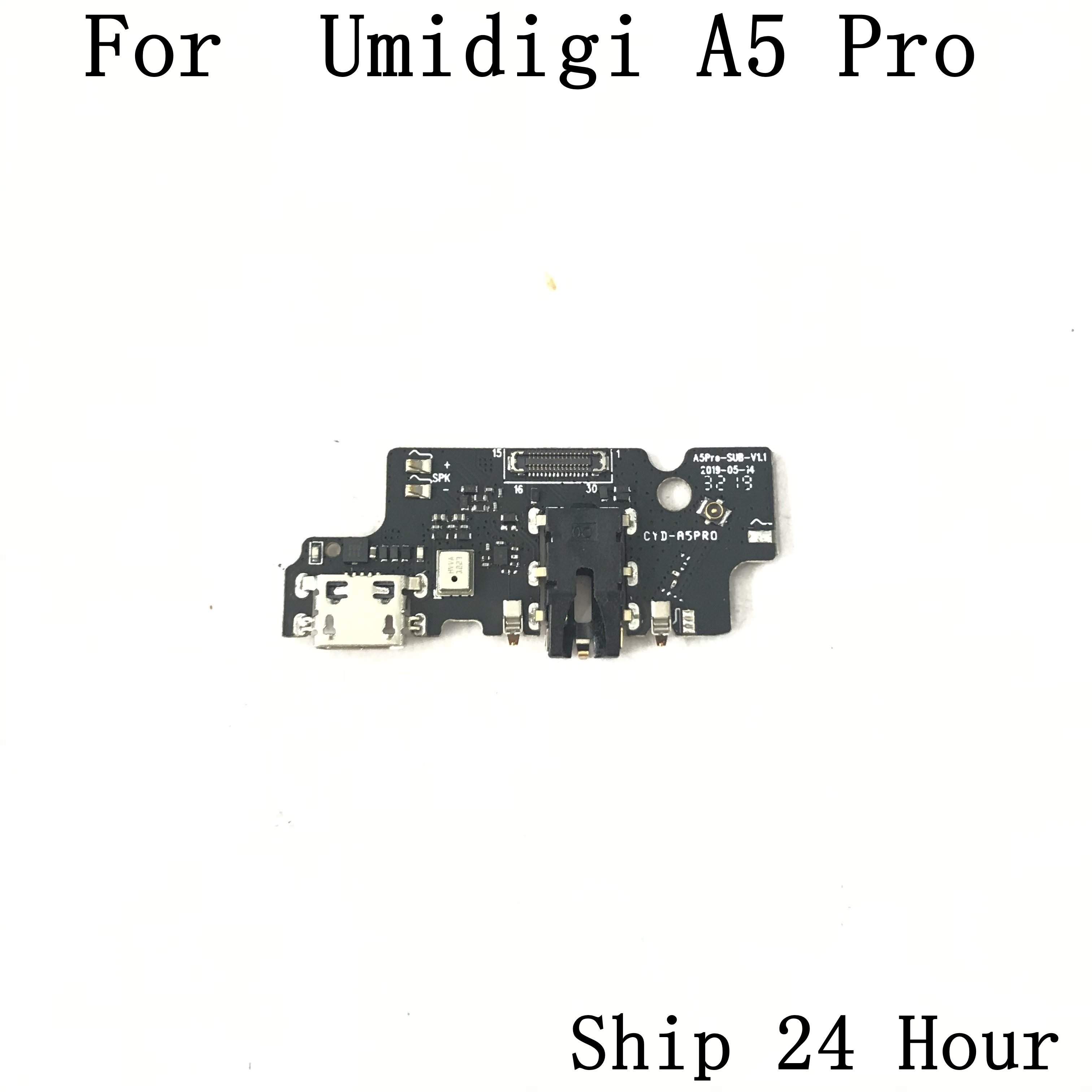 Original Umidigi A5 Pro USB Charge Board + Earphone Jack For Umidigi A5 Pro Repair Fixing Part Replacement Free Shipping|Mobile Phone Circuits| |  - title=
