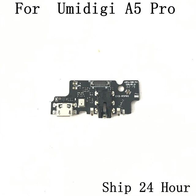 Placa de carga USB Original Umidigi A5 Pro + conector de auriculares para reparación Umidigi A5 Pro pieza de sustitución envío gratis