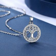 цена EUDORA 925 Sterling Silver Crystal Tree Pendant Celtics Tree Of life Necklace New Fashion Crystal Jewelry for birthday gift D425