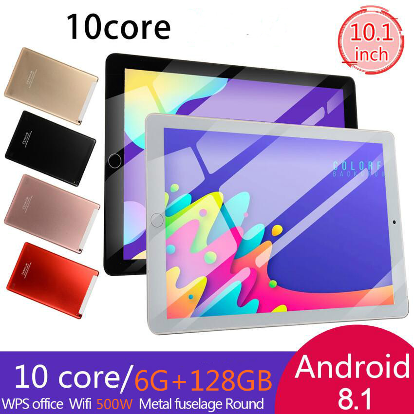 2020 New 10.1 Inch Tablet Pc Ten Core 4G Phone Call Google Market GPS WiFi FM Bluetooth 10.1 Tablets 6G+128G Android 8.1 Tab