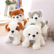 20cm high quality Simulation Dog Plush Toy Lovely Husky Soft Stuffed dolls Birthday Gifts For Children and Kids Christmas gifts