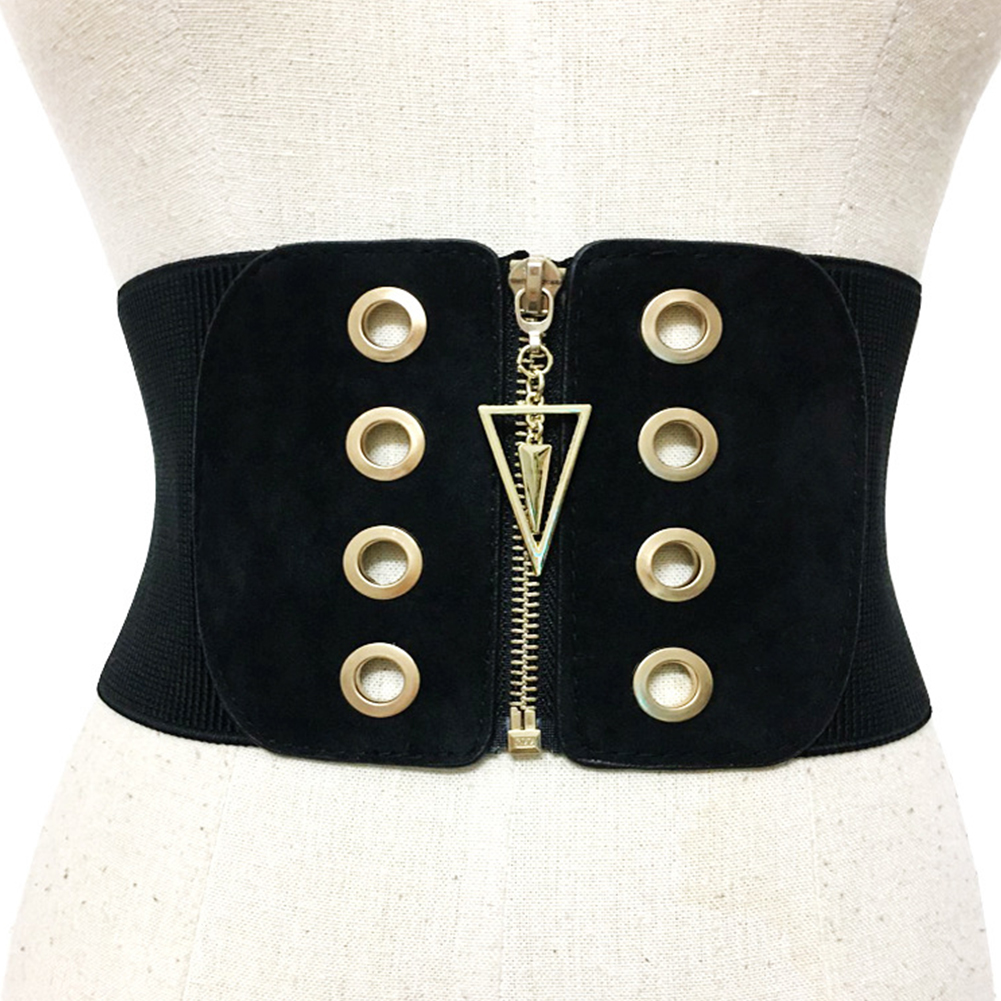 Adults Wide Corset Band Stretch Girdle Girls Fashion Accessories Slimming Strap Women Belt Elastic High Waist Zipper Sexy