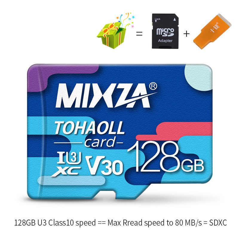 MIXZA BF Scheda di Memoria 256GB U3 80 MB/S Class10 128GB 64GB 32GB U1 Micro carta di deviazione standard UHS-1 flash card di Memoria Microsd TF/SD card