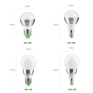 Image 2 - 1Pcs Lovely 16 Colors RGB Christmas Decor Atmosphere LED Night light E27 5W 110V   220V LED lamp Spotlight Bulb + IR Remote