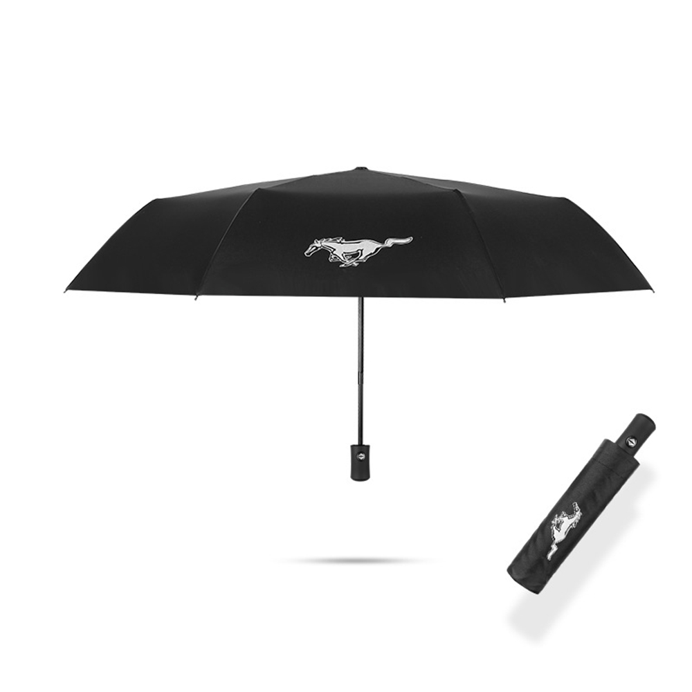 Krada 1X Umbrella For Ford Mustang GT Foldable UV Sunshade Windproof Waterproof Umbrella Car Accessories