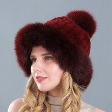 Женские шапки из натурального меха норки зимние толстые теплые