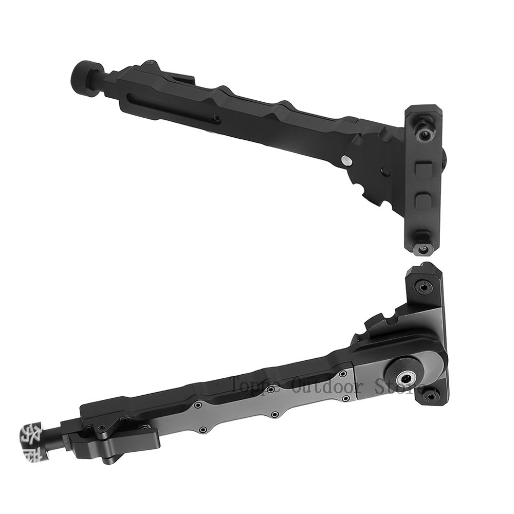 M-LOK V9 Bipod Side Mount Mlok Split Adjustable Side Folding Legs 6-8 Inch