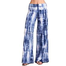 купить Woman Loose Pants Casual Yoga Print Comfort Sports Hips High Waist Thread Palazzo Pants Outdoor Print Wide Leg Trouser Clothing дешево