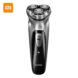 Image 4 - Xiaomi mijia barbeador elétrico men 3d navalha usb recarregável máquina de barbear para aparador barba xiaomi barbeador