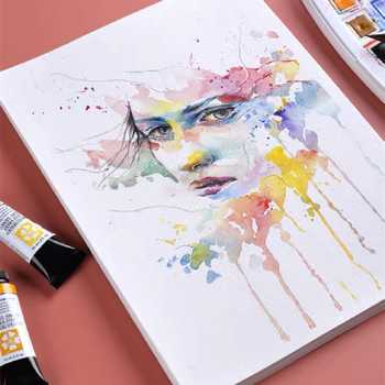 8K 4K 160g/m² Professional Watercolor Paper for Drawing Transfer Portable Travel Sketchbook for Student