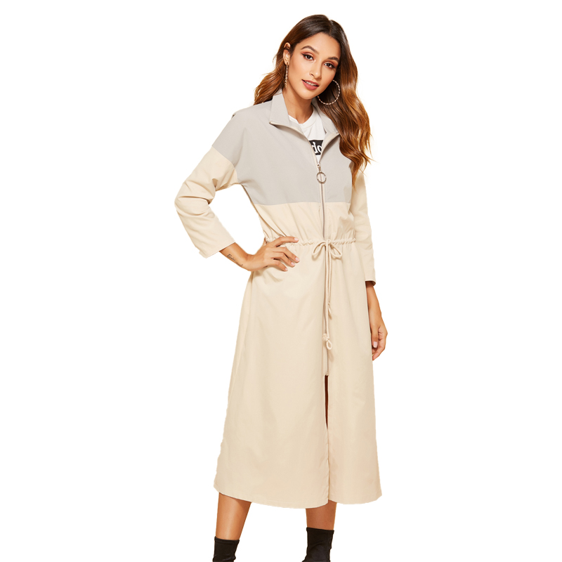 Diwish 2019 New Trench Women Long Coat Gothic Coat Casual Plus-size Clothes Fashion Twotwinstyle Ladies Coats Windbreaker