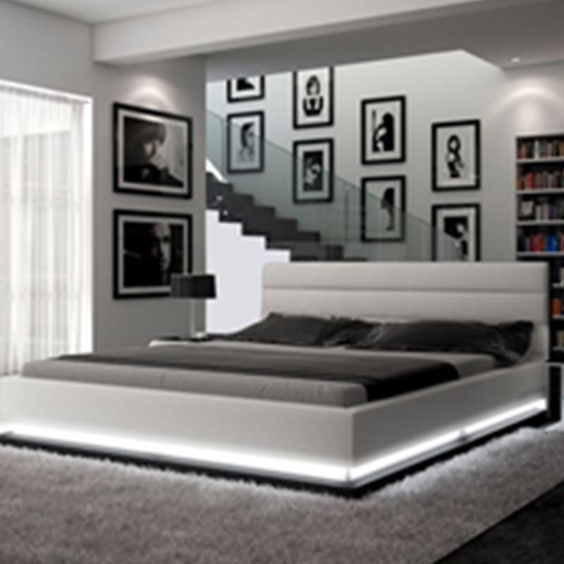 Hot Selling Bedroom Furnitures Modern Style Romantic Black Grey
