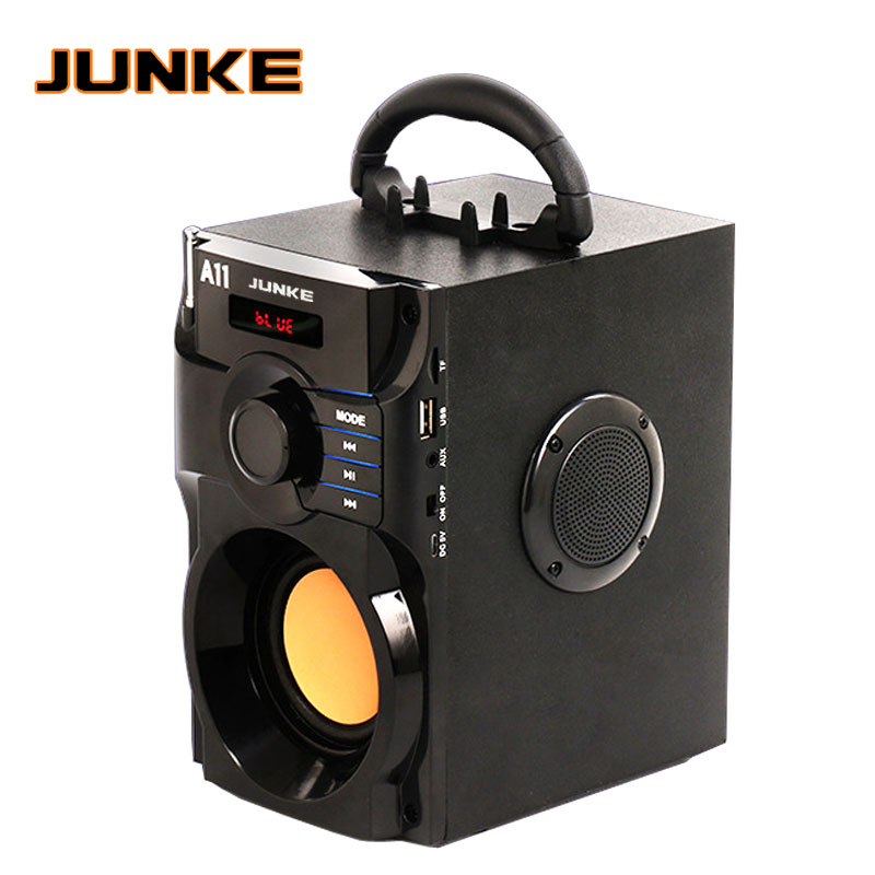JUNKE 2.1 Speakers Stereo And Subwoofer Bluetooth Speaker Portable Wireless Loudspeaker Mp3 Sound System Computer Column