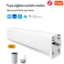 Tuya inteligente zigbee cortina elétrica do motor motorizado tuya app dooya trabalho de controle remoto para alexa google casa inteligente