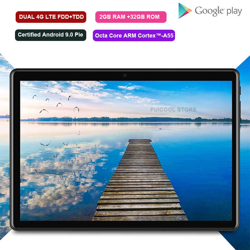 Globale Version 10 zoll 4G LTE Handy tablet 32GB ROM 1280x800 HD Screen Android 9,0 10 zoll tablet 5G Wifi GPS Bluetooth PAD