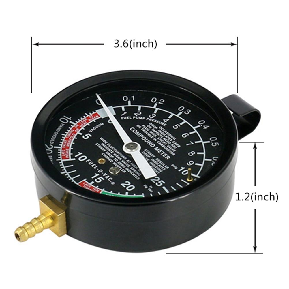 cheapest TU-1 Carburetor Valve Fuel Pump Pressure Vacuum Tester Gauge Test Kit  Exhaust Pipe Blockage Detection
