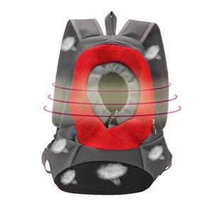 Image 4 - חיות מחמד תיק חתול כלב נסיעות תרמיל נייד תיק לנשימה רשת חזה תיק לחיות מחמד תרמיל חיצוני ציוד לחיות מחמד S L
