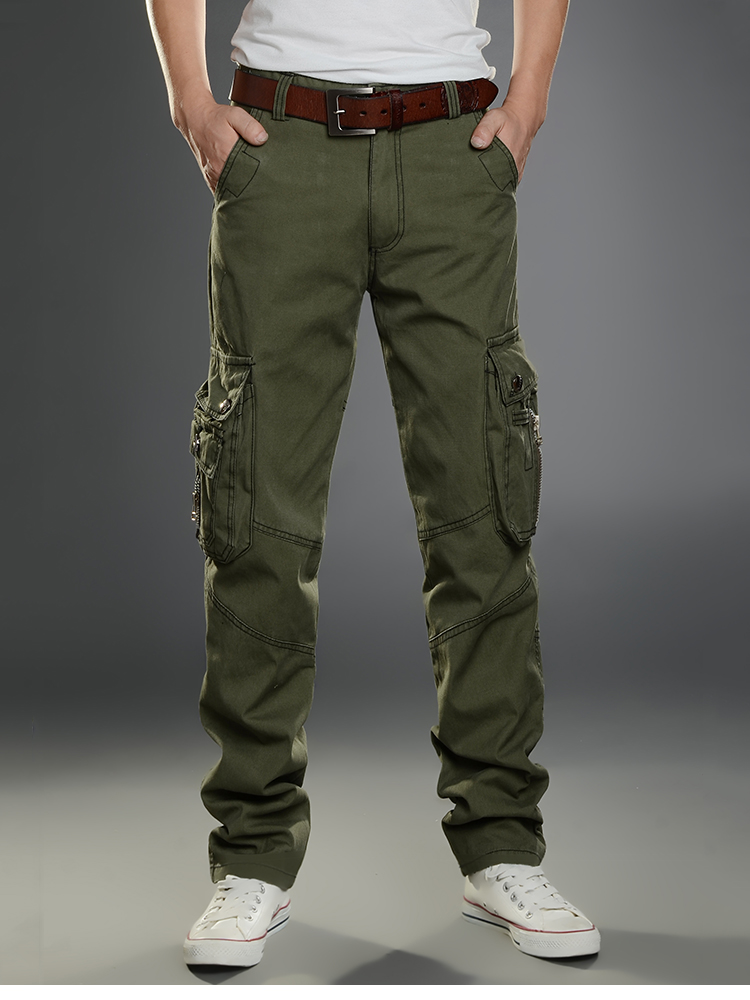 KSTUN New Cargo Pants for Men Baggy Casual Pants Male Overalls Full Length Trousers Loose Straight Cut Pants Zippers Pockets Desinger 19