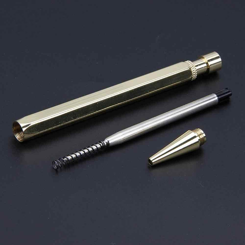 חדש רטרו מתכת כדורי עט חברה מותאמת אישית לוגו אופנה פרסום עיתונות מתנה עט פליז כדורי עט לכתיבה