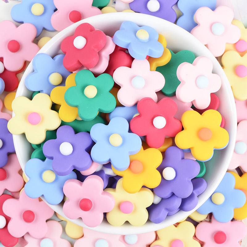 Five-petal flower magnetic refrigerator magnet, multi-color flower refrigerator magnet, cute flower magnetic blackboard sticker