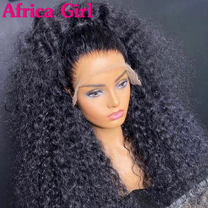 Africa Girl Deep Curly Lace Front Wig 4x4 Closure Wig Remy Brazilian 360 Lace Wig curly Lace Front Human Hair Wigs pre plucked