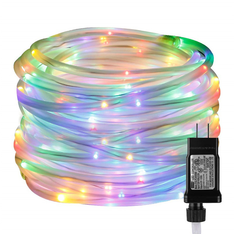 10M 20M 30M Indoor Outdoor Plug In String Light For Home Garden Decors LED Rope Lights With Timer 8 Modes Low Voltage Waterproof