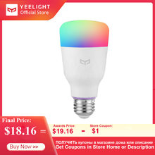 YEELIGHT YLDP06YL ampoule 10W RGB E27 sans fil WiFi contrôle vocal lampe intelligente vaste Options de couleur Version colorée(China)