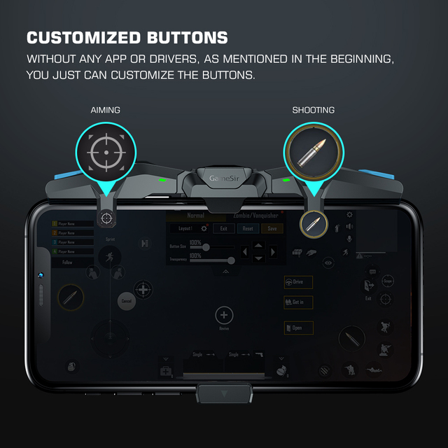 GameSir F4 Falcon Mobile Gaming Controller Plug and Play for iOS / Android 4