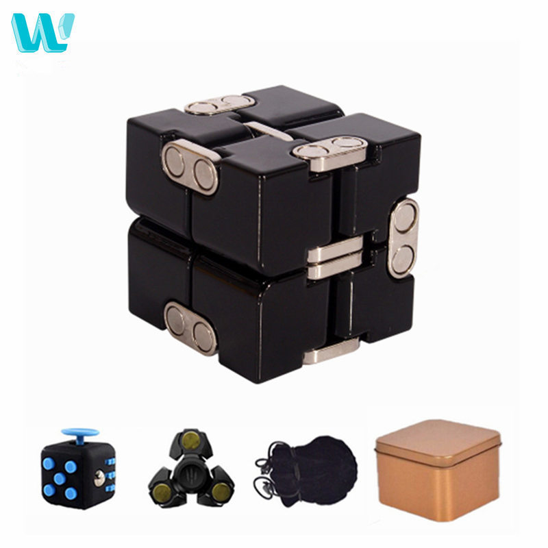 WINCOTEK  Premium Metal Infinity Cube Toy Aluminium Deformation Magical Cube Toys For Chilren Stress Reliever For EDC Anxiety