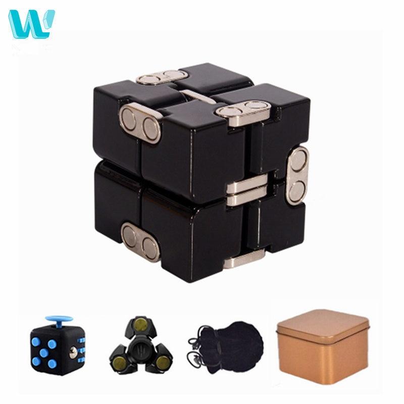 Wincotek prêmio metal infinito cubo brinquedo de alumínio deformação cubo mágico brinquedos para chilren stress reliever para edc ansiedade