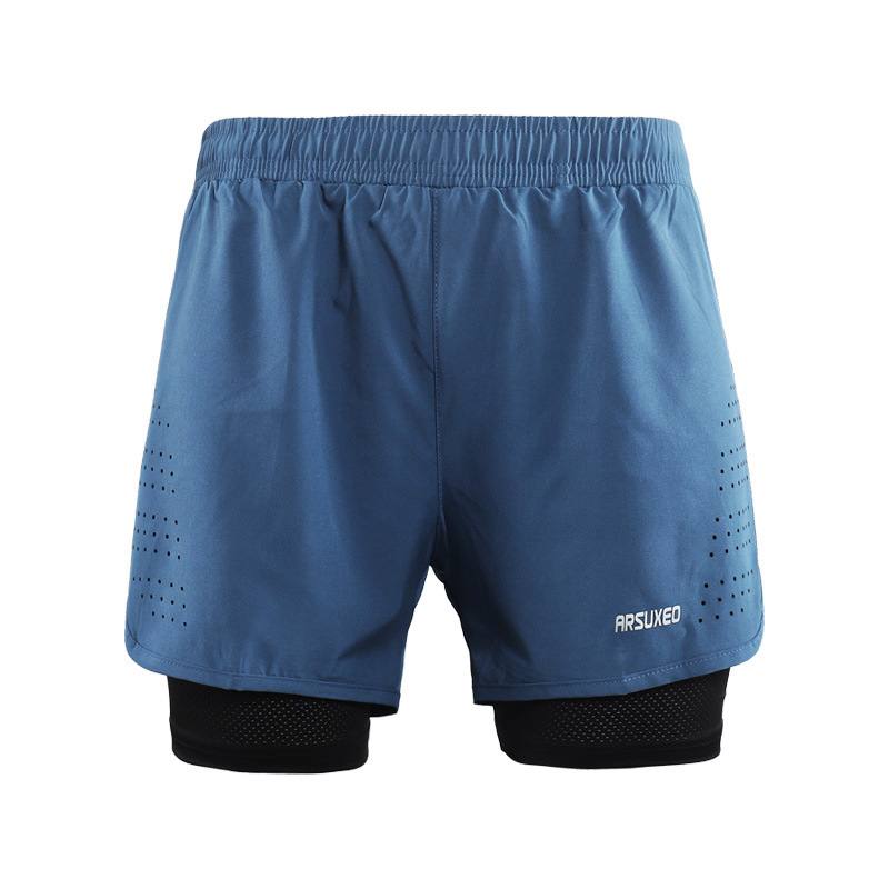 Summer <font><b>2</b></font> <font><b>in</b></font> <font><b>1</b></font> Running <font><b>Shorts</b></font> Jogging <font><b>Sports</b></font> <font><b>Shorts</b></font> Workout Quick-Drying Leisure Athletic Gyms Fitness <font><b>Shorts</b></font> Pant Leggings image