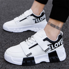 Fashion Sneakers Men High Quality Lace-up Pu Canvas Shoes High top