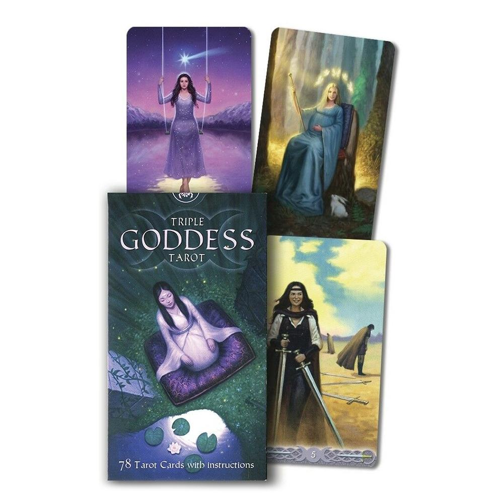 78PCS/Set English Version Triple Goddess Tarot Game Card Tarot Deck Board Game Cards For Family Gift Party Playing Card Game