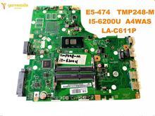 Оригинальный Для ACER E5-474 Материнская плата ноутбука E5-474 TMP248-M I5-6200U A4WAS LA-C611P испытанное хорошее Бесплатная доставка
