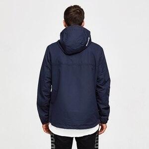 Image 3 - 虎力男性ジャケット春カジュアルジャケットパーカーフード付きジャケットサイドポケットコートヨーロッパサイズ