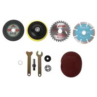 10Pcs/Set Metal Cutting Piece Wood Saw Blade Sticky Disc Piece Connecting Rod for Angle Grinder Electric Drill Cutting Conversio|Power Tool Sets| |  -