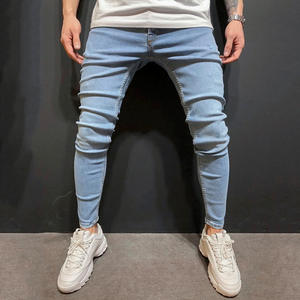 Jeans Pencil-Pants Stretch Elastic-Waist Scratched Us-Size Casual High-Quality Button