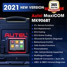 Autel MaxiCOM MK906BT OBD2 Scanner Advanced Diagnostic Tool Bluetooth Scanner Automotivo ECU Codierung PK MaxiSys MS906BT MS906