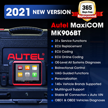 Autel herramienta de diagnóstico OBD2 MaxiCOM MK906BT, autoescáner OBD2, Bluetooth, codificación ECU, PK MaxiSys MS906BT MS906