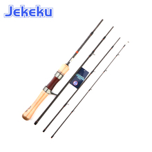 JEKEKU 135cm Portable Trout Fishing Rod Suplight Wave Travel Rod High Carbon Rod Power UL 4Section Closed Length 37c Fast Action