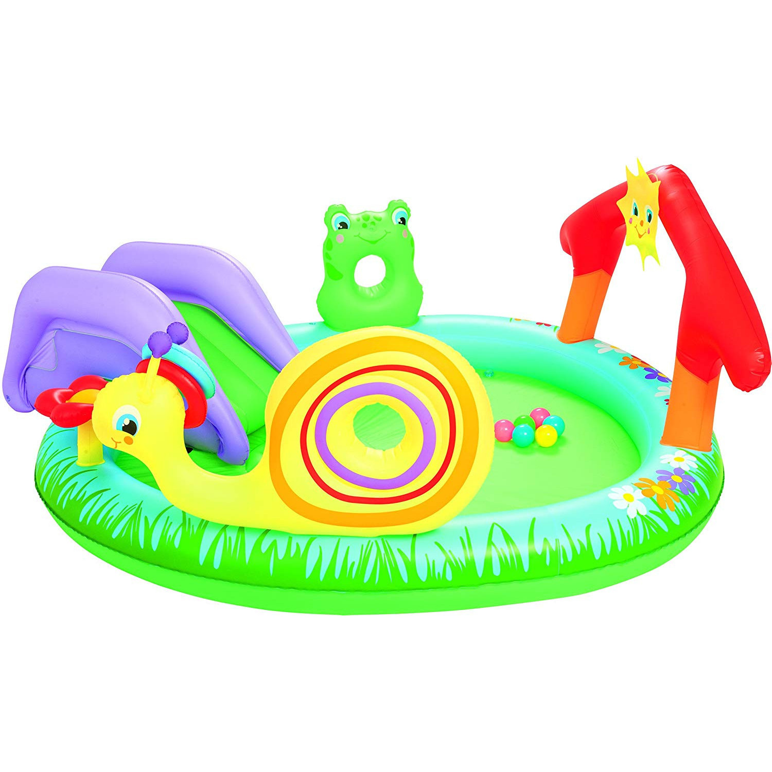 Bestway Inflatable Pool Child Play & Grow 211 Cm X 155 Cm X 81 Cm-53055-