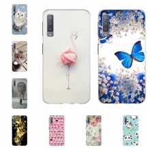 For Samsung Galaxy A3 A7 2018 Case TPU J1 2016 Cover Flowers Pattern J2 Core Prime Bag