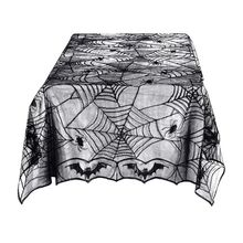 Tablecloth Black Decor-Prop Scene Horror Spider-Bat Party-Decoration Halloween