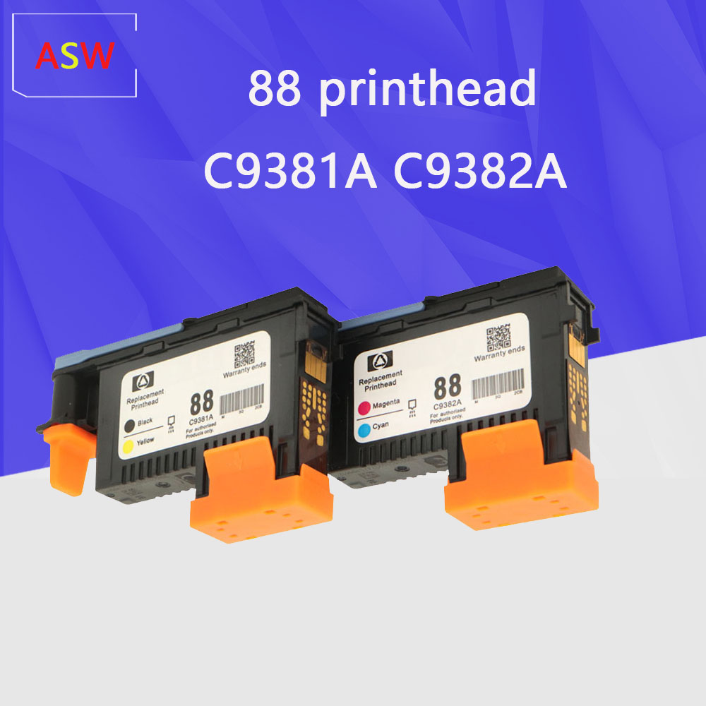 2PCS Compatible HP 88 Print Head C9381A C9382A Officejet Pro L7400 L7480 L7500 L7550 L7580 L7588 L7600 L7650 L7680 L7681 L7700