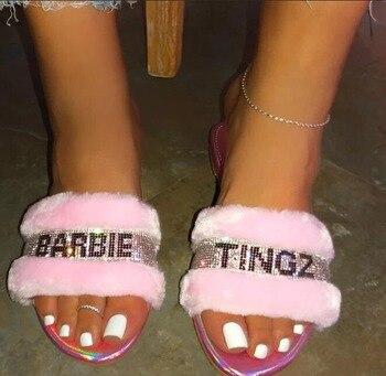 Barbie Fur Slippers 4