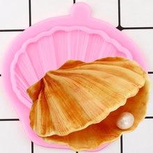 Concha de molusco moldes de silicone diy festa cupcake topper fondant ferramentas de decoração do bolo biscoito cozimento doces chocolate gumpaste moldes