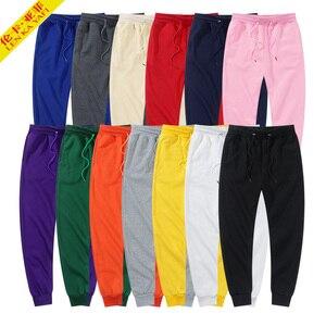 Мужские черные штаны, спортивные штаны, мужские красные брюки, модные брендовые женские белые спортивные штаны, повседневные осенне-зимние ...